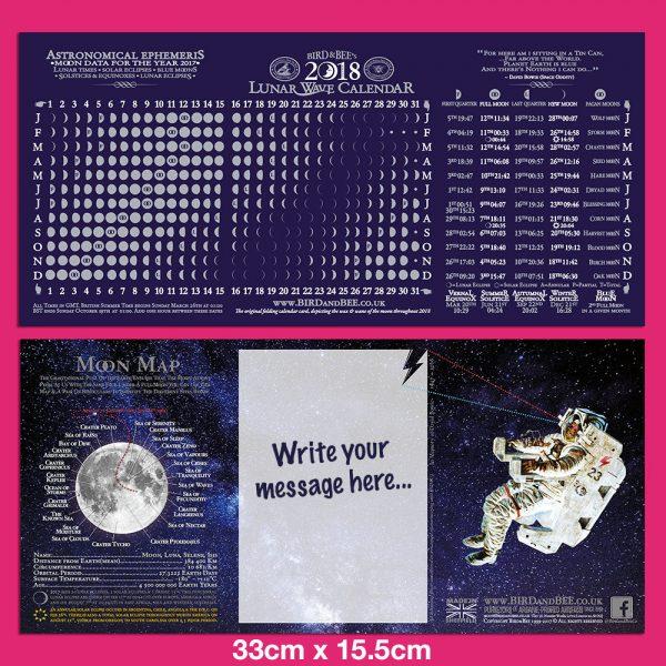 Moon Calendar Card 2018