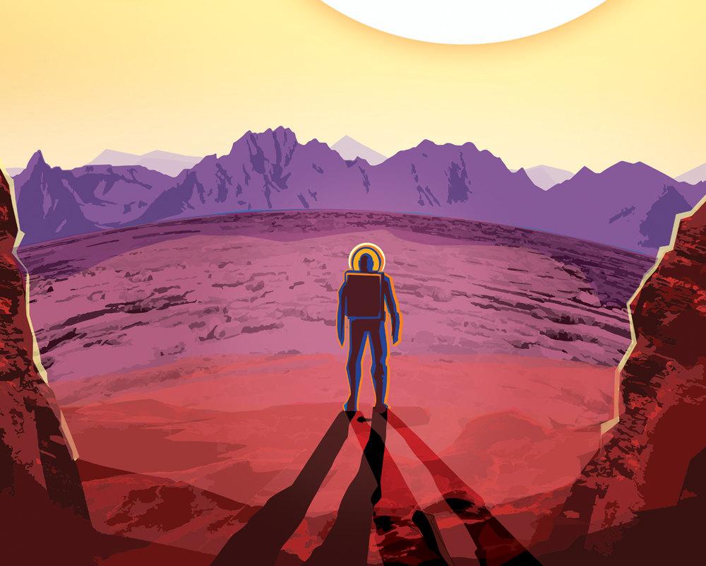 NASA Print Visit Kepler 16b