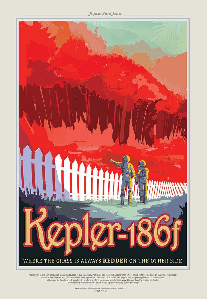 NASA Print Visit Kepler 186f