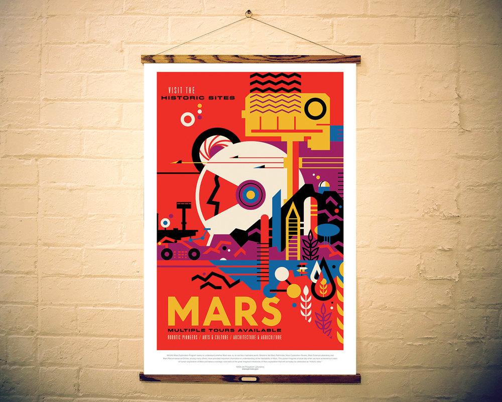 NASA Print Visit Mars