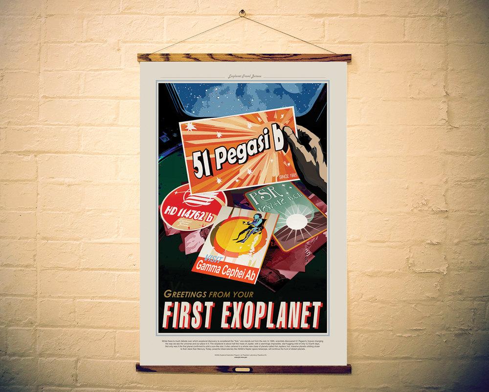 NASA Print Visit Planet 51 Pegasi