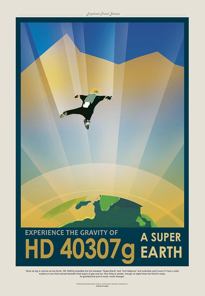 NASA Print Visit Planet HD 40307g