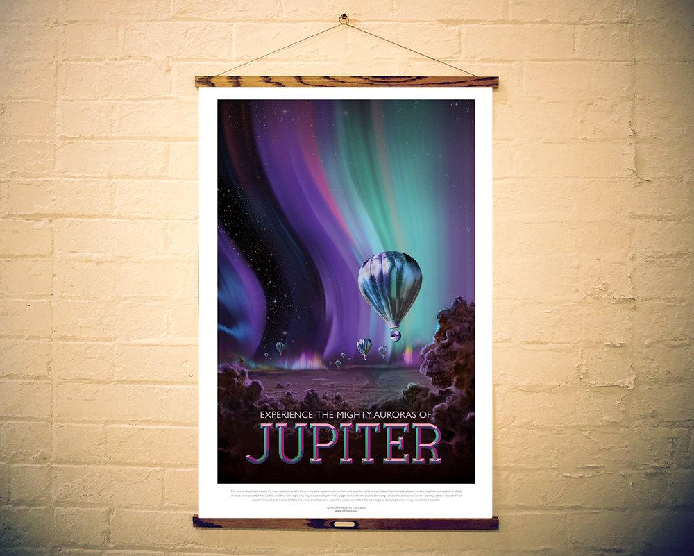 NASA Print Visit Planet Jupiter