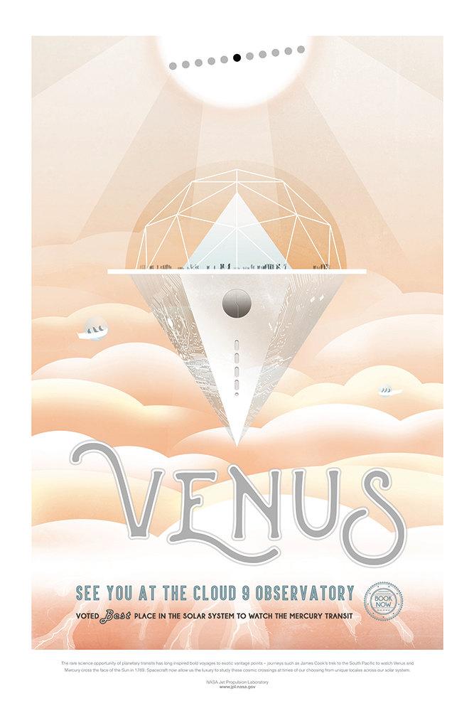NASA Print Visit Planet Venus
