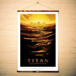 NASA Print Visit Titan