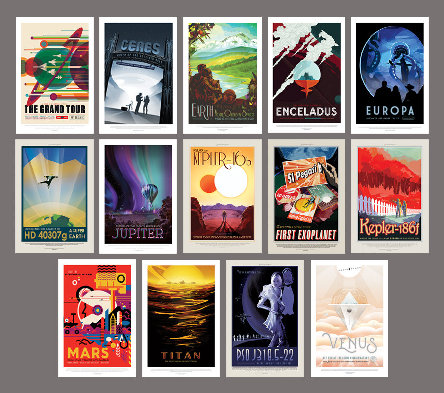 NASA Prints Set of 14