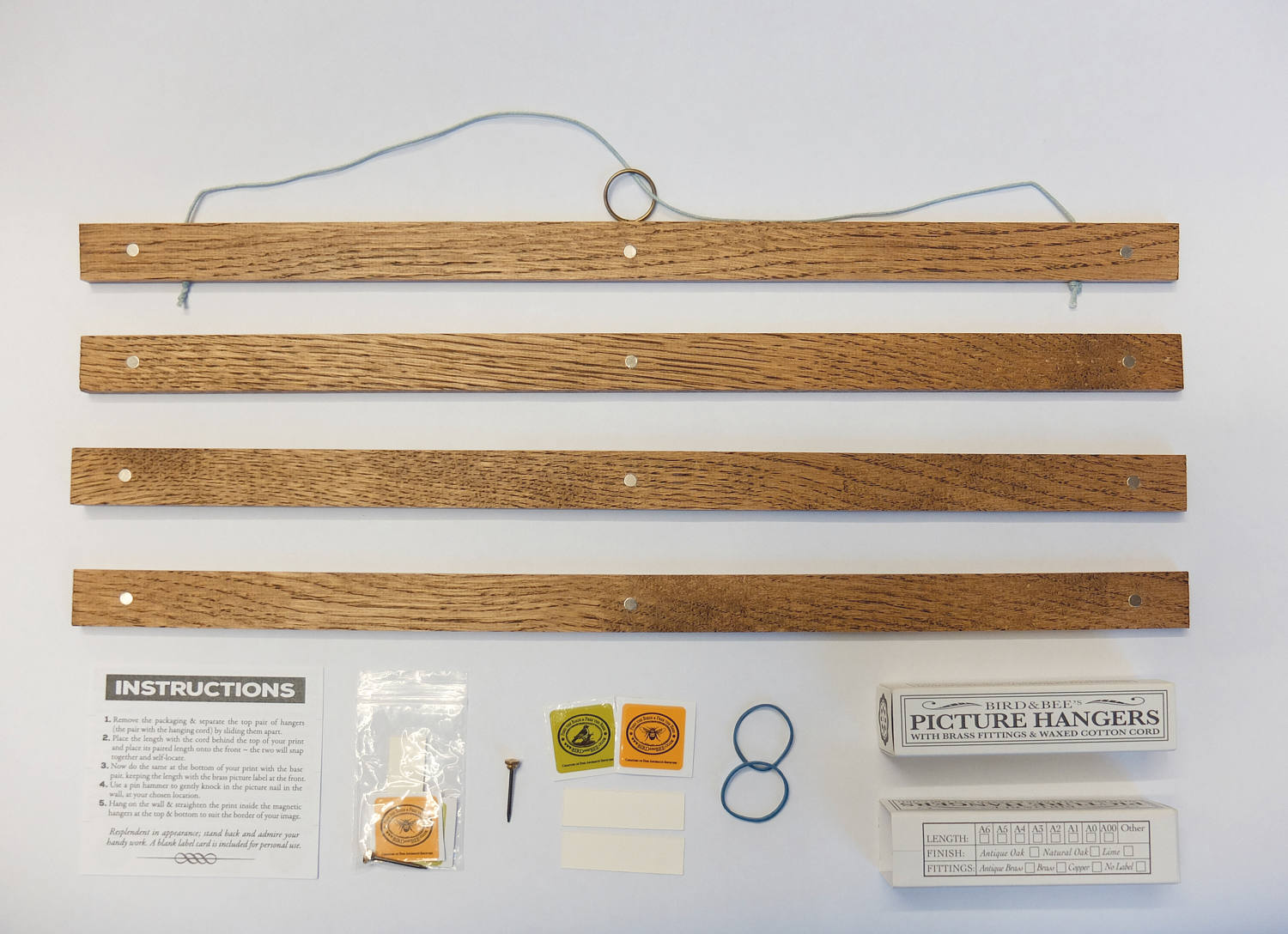 Wooden Picture Hanger BESPOKE SIZES 6-48inch